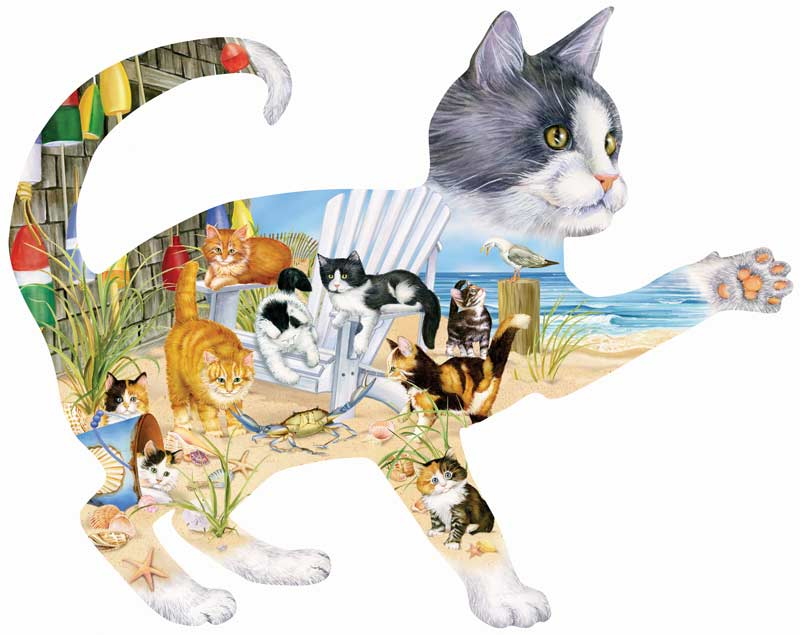 Beach Cats Beach Jigsaw Puzzle