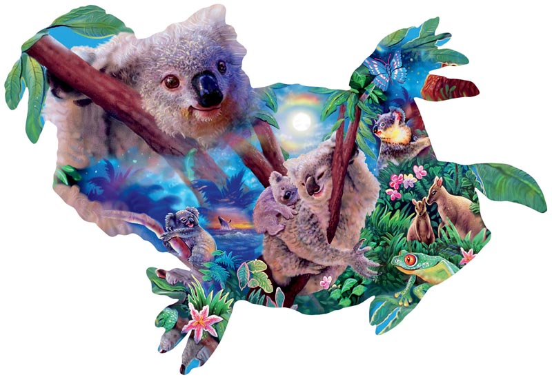 Koala Kingdom Jungle Animals Jigsaw Puzzle