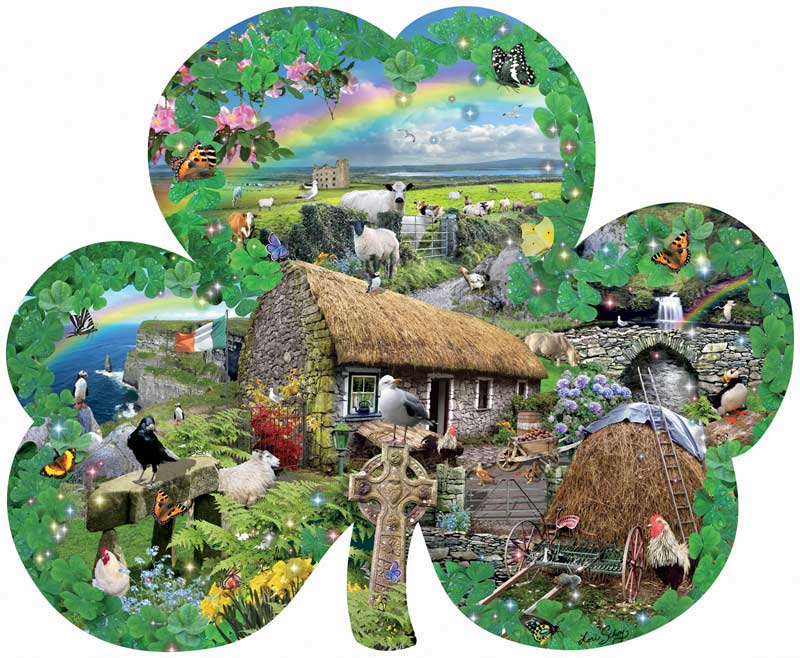Irish Charm Farm Shaped Puzzle