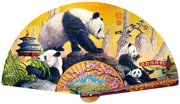 Panda Elegance Bears Shaped Puzzle