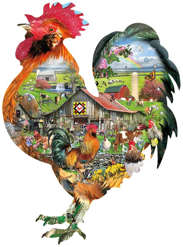 Rule the Roost Farm Shaped Puzzle