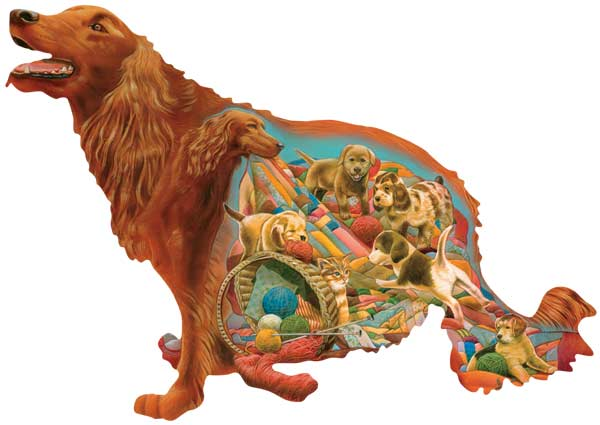 Big Red Dogs Jigsaw Puzzle