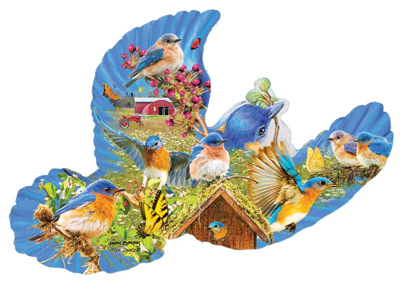 Bluebird Country - Scratch and Dent Farm Shaped Puzzle