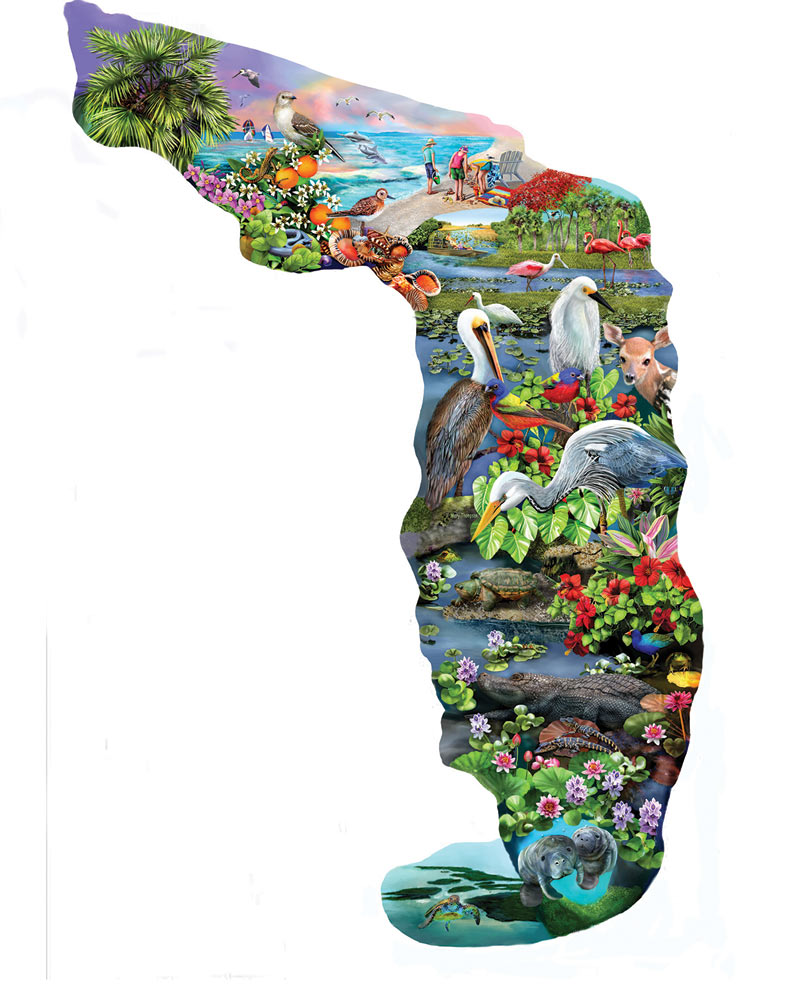 Florida Wildlife - Scratch and Dent Beach Shaped Puzzle
