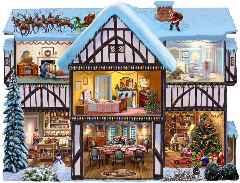 Christmas Eve 1000 Pieces Sunsout Puzzle Warehouse