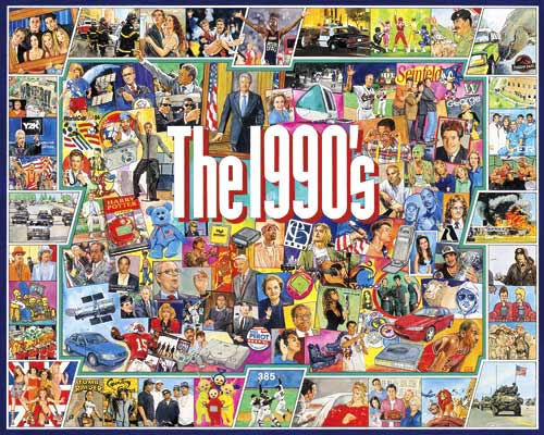 The Nineties Graphics / Illustration Jigsaw Puzzle
