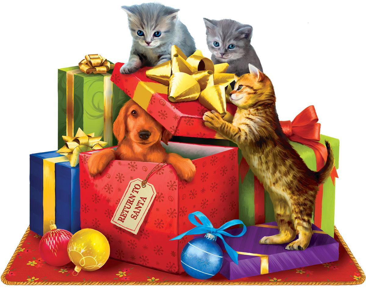 Return to Santa Cats Shaped Puzzle