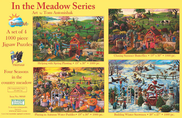 In the Meadow Series Farm Jigsaw Puzzle
