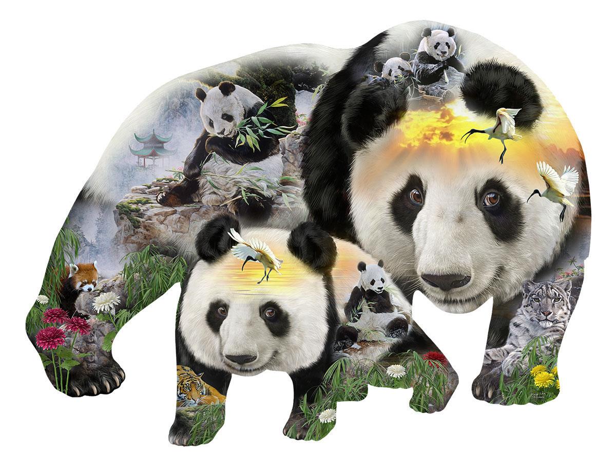 Panda-Monuim Animals Shaped Puzzle