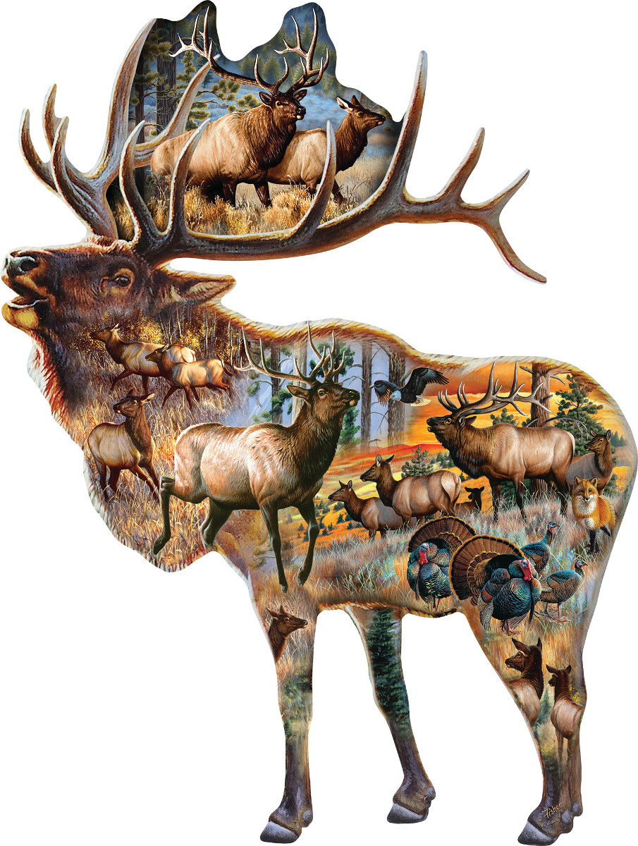 Bugle Call - Scratch and Dent Wildlife Shaped Puzzle