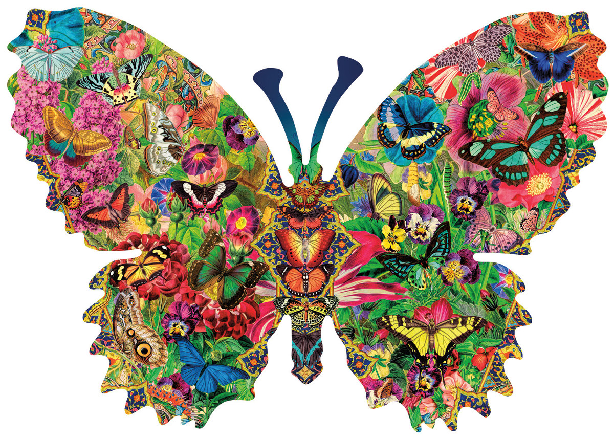 Butterfly Menagerie Butterflies and Insects Shaped Puzzle