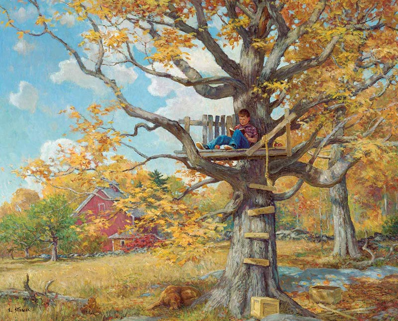 Tree House Fall Jigsaw Puzzle