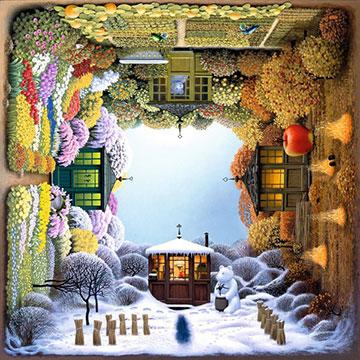 Four Seasons Garden Fall Jigsaw Puzzle