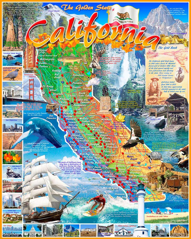 California State Map   Scratch and Dent Jigsaw Puzzle