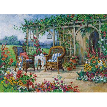Sunny Morning Flowers Jigsaw Puzzle