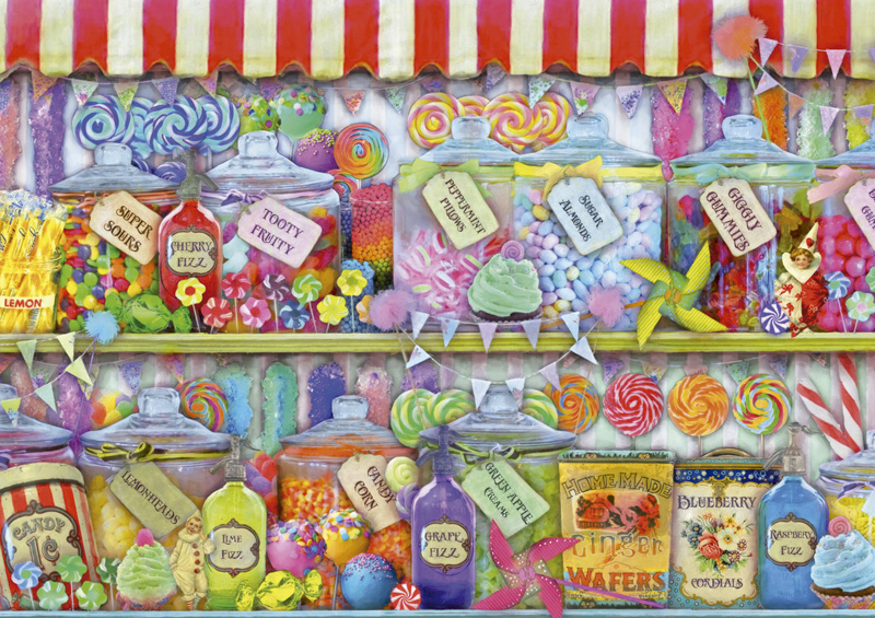 Candy Shop Food and Drink Jigsaw Puzzle