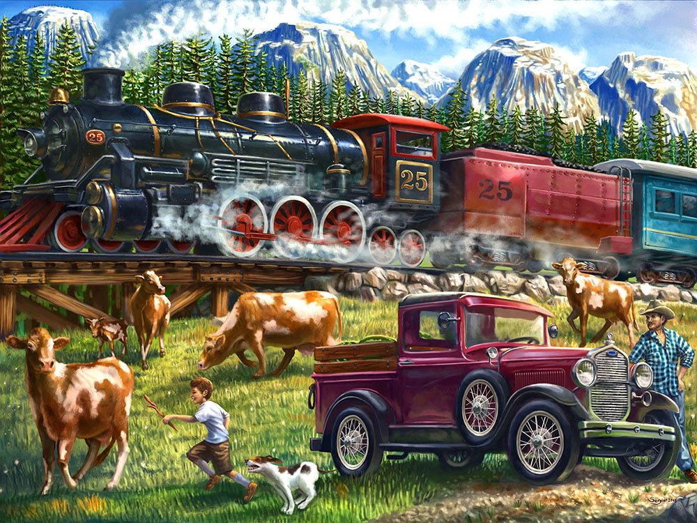 Great Western Train (Collector) - Scratch and Dent Mountains Jigsaw Puzzle