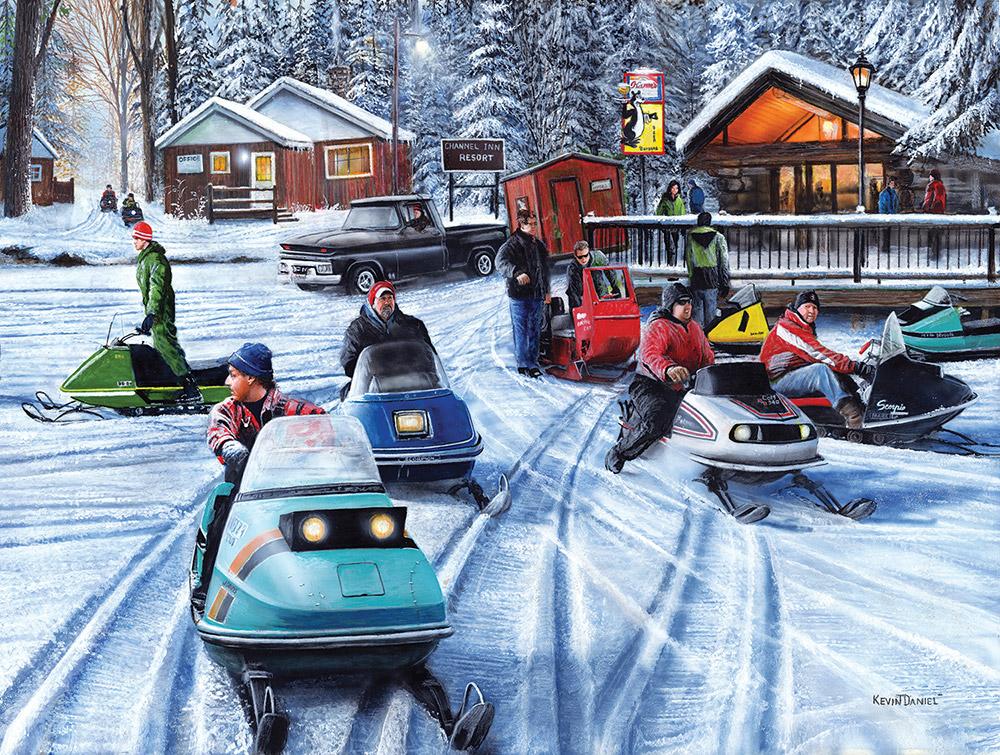 Poker Runs - Scratch and Dent Winter Jigsaw Puzzle