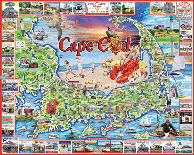 Cape Cod, MA Landmarks / Monuments Jigsaw Puzzle