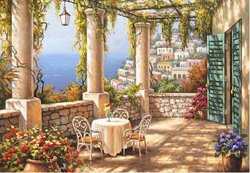 Morning Terrace Landscape Jigsaw Puzzle