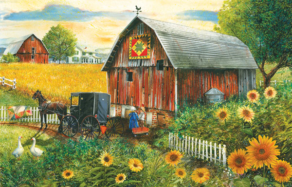 Country Paradise Farm Jigsaw Puzzle
