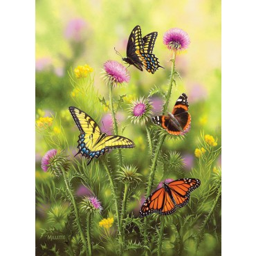 Butterflies and Thistle Butterflies and Insects Jigsaw Puzzle