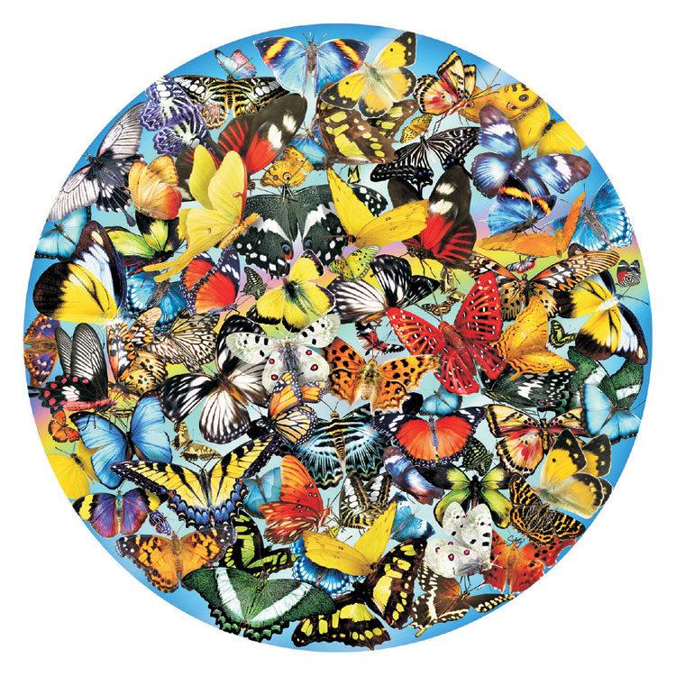 Butterflies in the Round Butterflies and Insects Shaped Puzzle