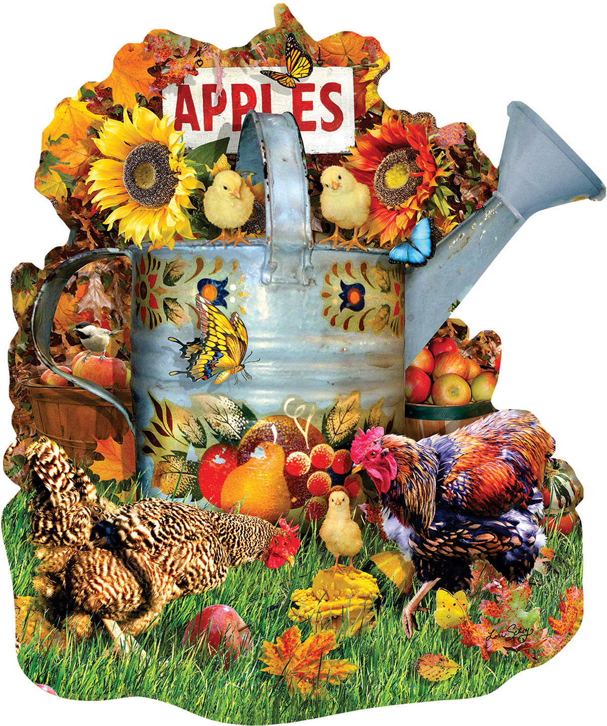 Fall Watering Can Fall Shaped Puzzle