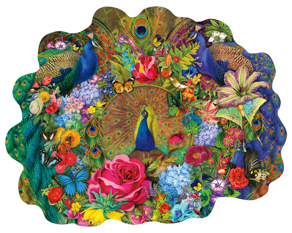 Garden Peacock Birds Shaped Puzzle