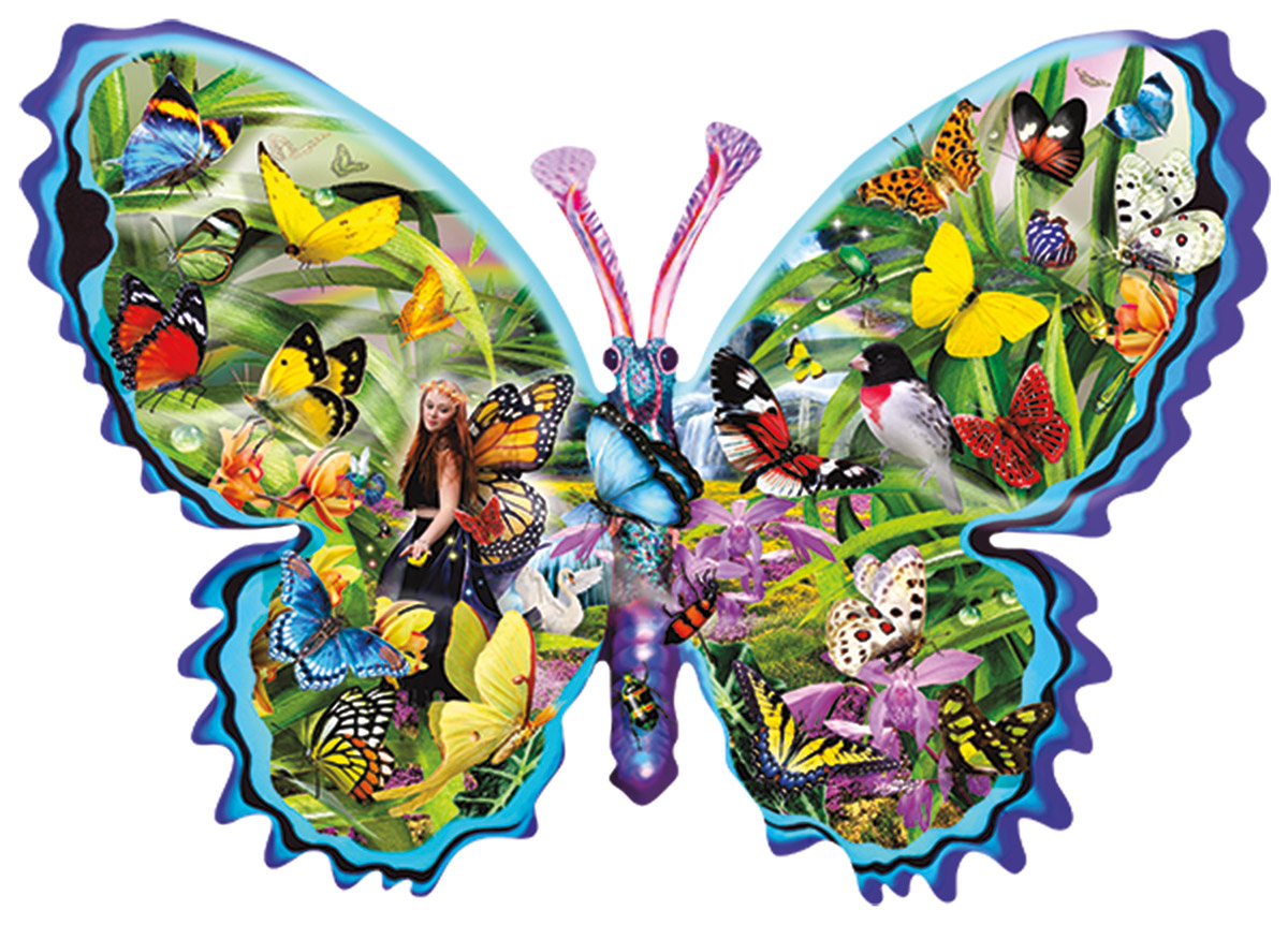 Genevieve - Scratch and Dent Butterflies and Insects Shaped Puzzle