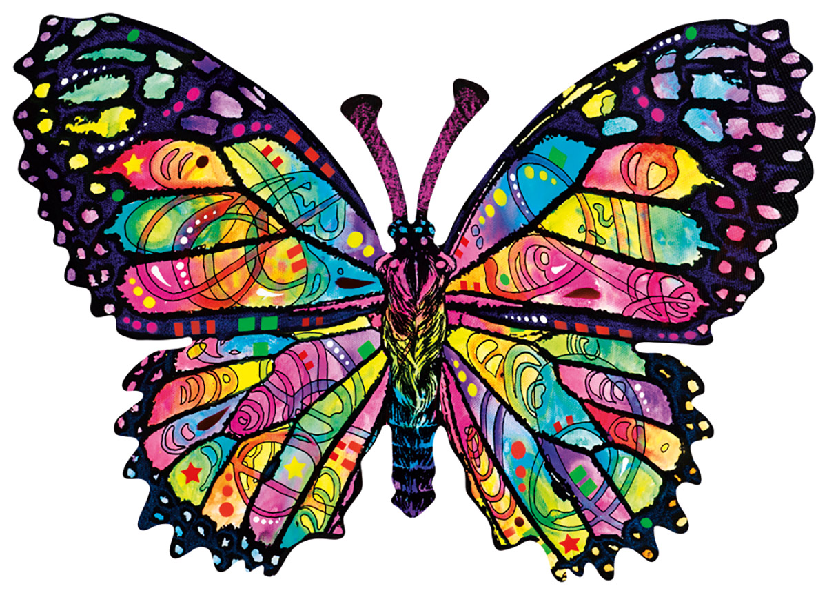 Stained Glass Butterfly Butterflies and Insects Shaped Puzzle