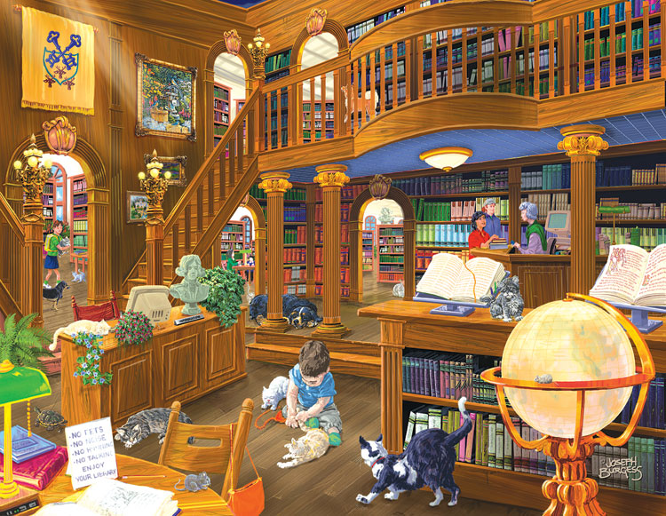 The Library Jigsaw Puzzle Puzzlewarehouse Com