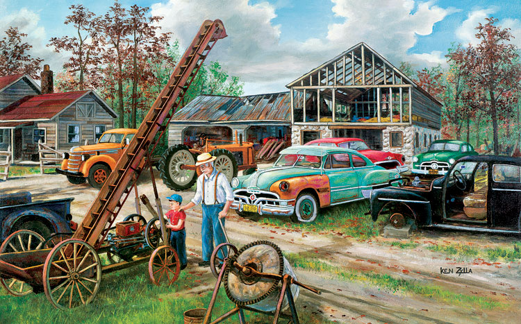 In Grandpa's Footsteps Cars Jigsaw Puzzle