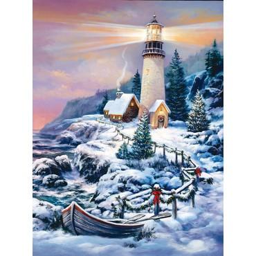 Christmas Lighthouse Jigsaw Puzzle Puzzlewarehouse Com