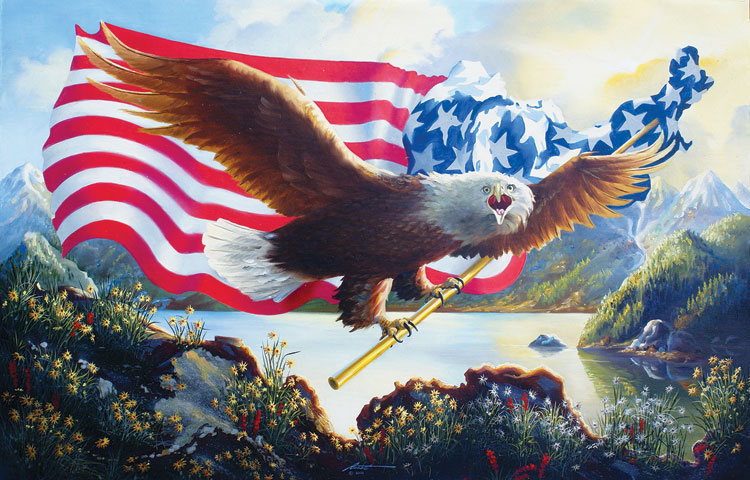 O'er the Land of the Free - Scratch and Dent Mountains Jigsaw Puzzle