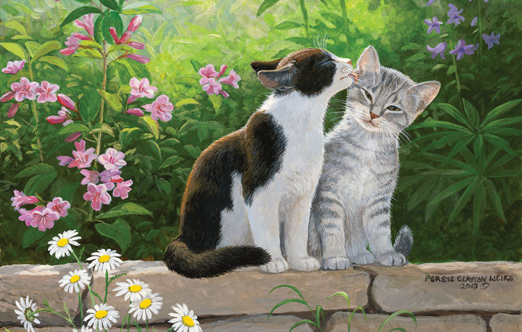 Garden Secret Cats Jigsaw Puzzle