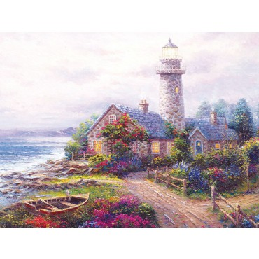 End of the Road - Scratch and Dent Lighthouses Jigsaw Puzzle