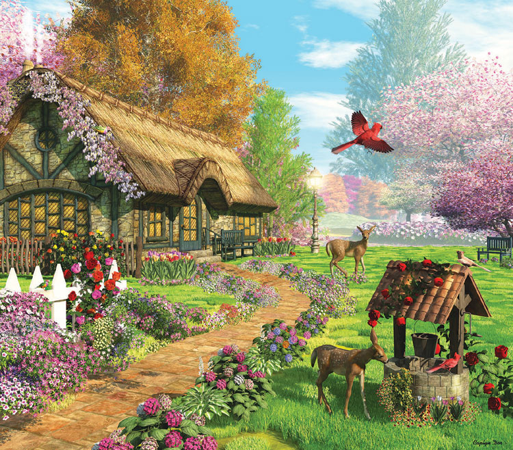 Peaceful Retreat - Scratch and Dent Farm Jigsaw Puzzle