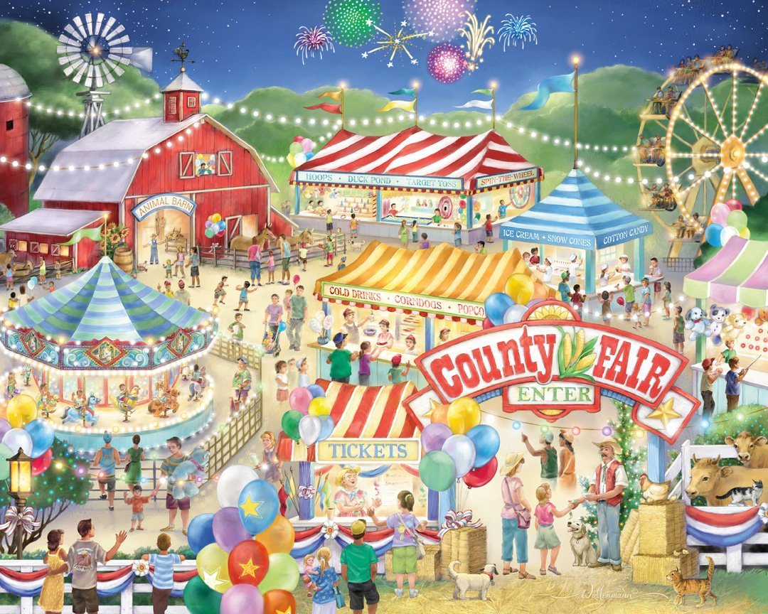 county fair jigsaw puzzle puzzlewarehouse com free vintage carnival clipart free carnival cruise clipart
