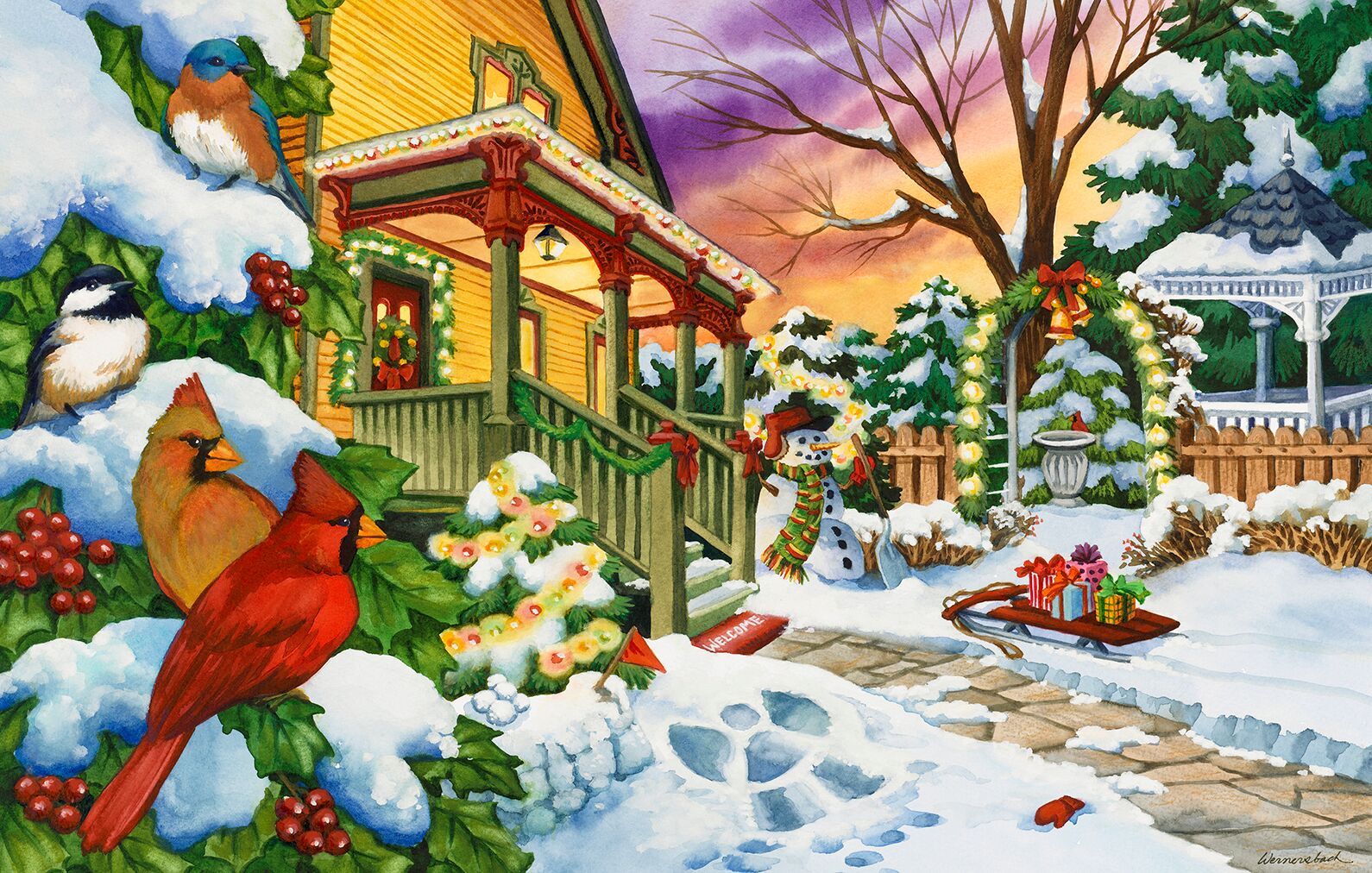 Winter Evening Jigsaw Puzzle | PuzzleWarehouse.com