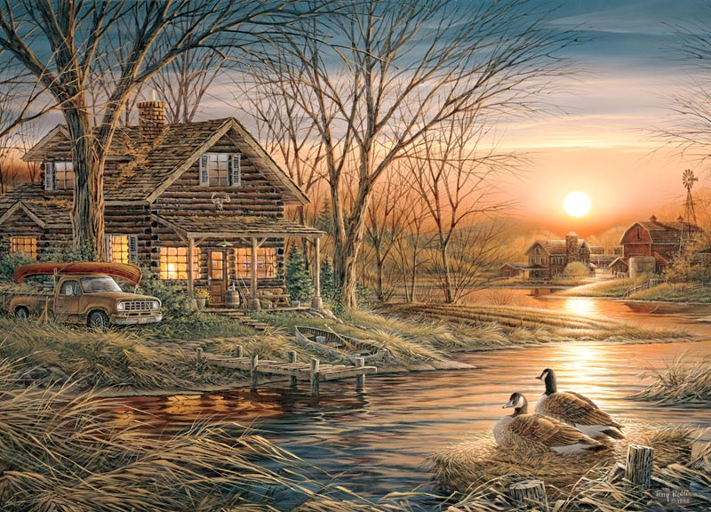 Terry Redlin: Shoreline Neighbors Countryside Jigsaw Puzzle