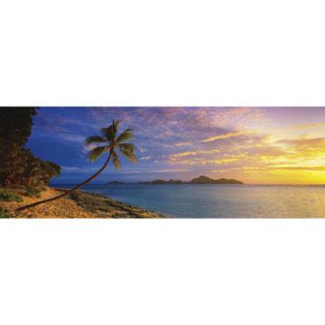 Tokoriki Island Sunset - Mamanuca Islands, Fiji Travel Jigsaw Puzzle