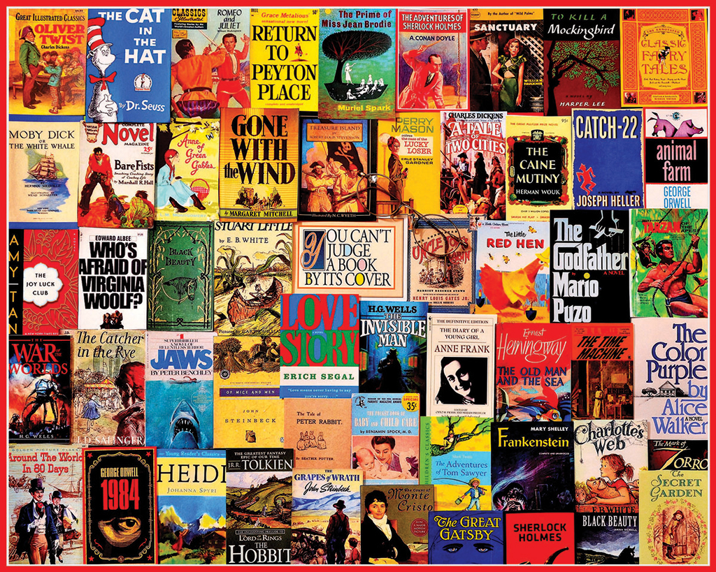 Great Books Collage Jigsaw Puzzle