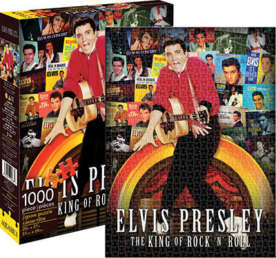 Elvis - Albums Collage Famous People Jigsaw Puzzle