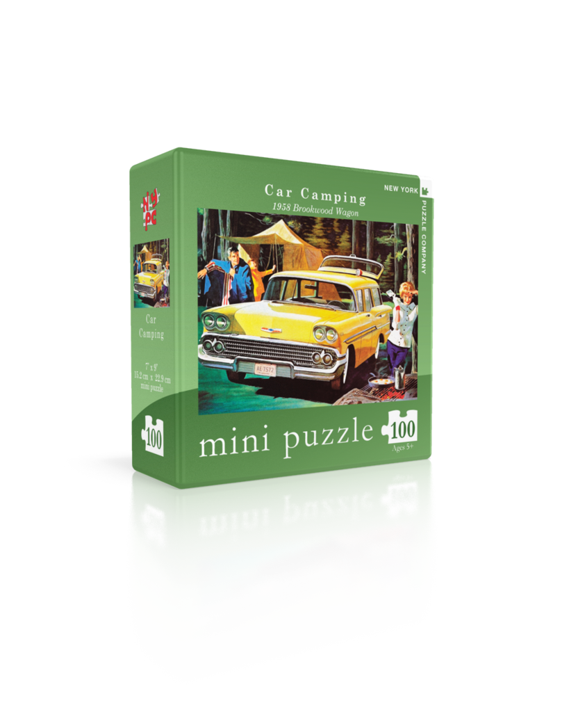 Car Camping - 1958 Brookwood Wagon  (Mini) Cars Jigsaw Puzzle