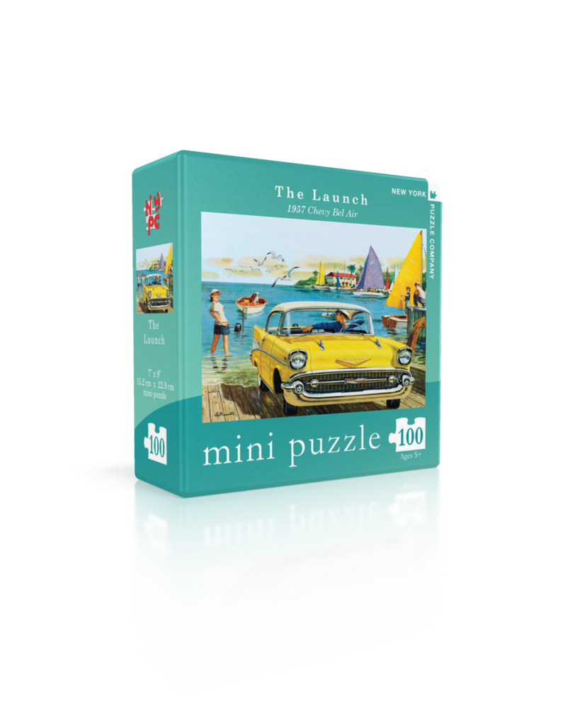 The Launch - 1957 Chevy Bel Air (Mini) Beach Jigsaw Puzzle