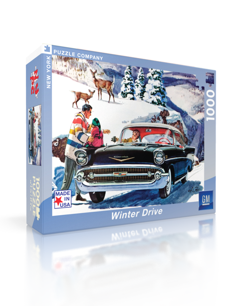 Winter Drive (General Motors) Winter Jigsaw Puzzle