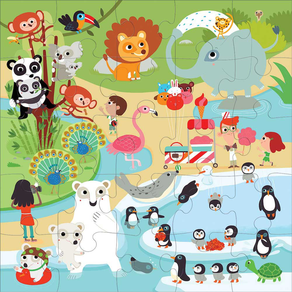 At the Zoo - Scratch and Dent Animals Jigsaw Puzzle