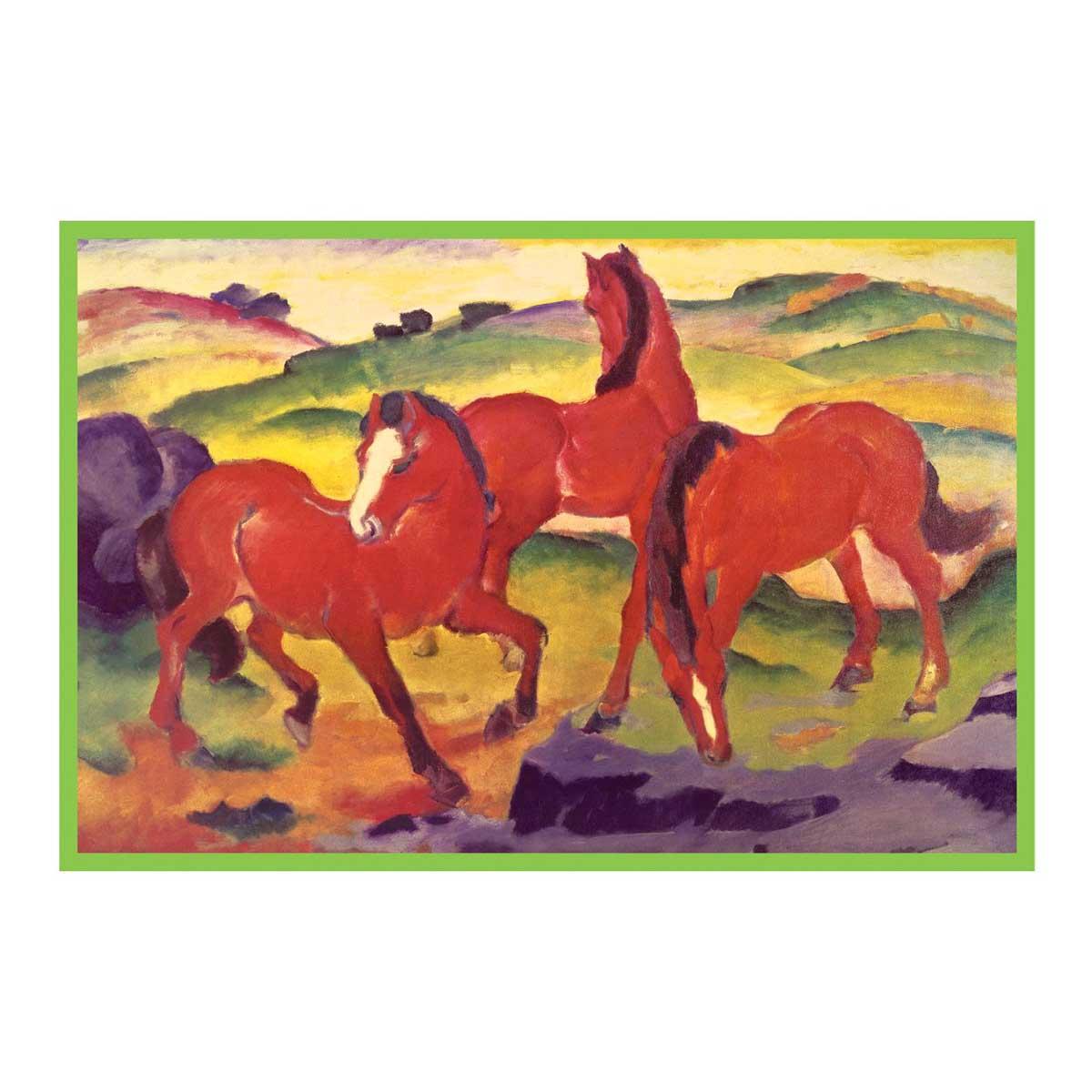 Franz Marc Grazing Horses IV Horses Jigsaw Puzzle