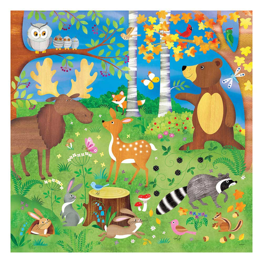 Forest Friends - Scratch and Dent Animals Jigsaw Puzzle